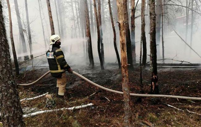 Для ліквідації пожеж у Чорнобильській зоні задіяли гелікоптери