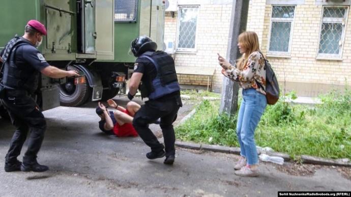 Суд по Стерненку: побитий поліцейськими — ветеран війни і дослідник із КНУ ім.Т.Шевченка