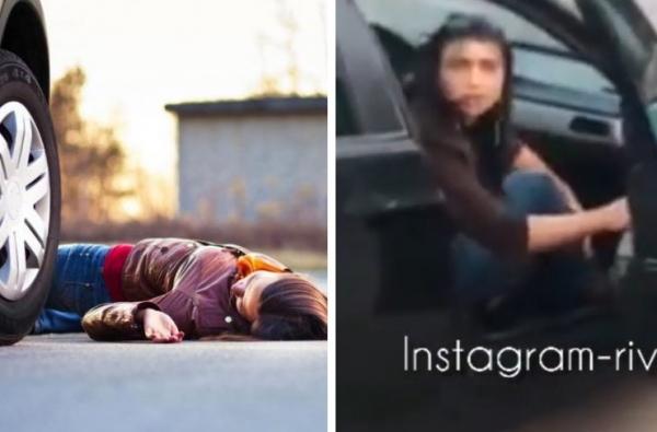 У Рівному збили жінку та забрали її з собою. Машину ловила поліція (ВІДЕО)