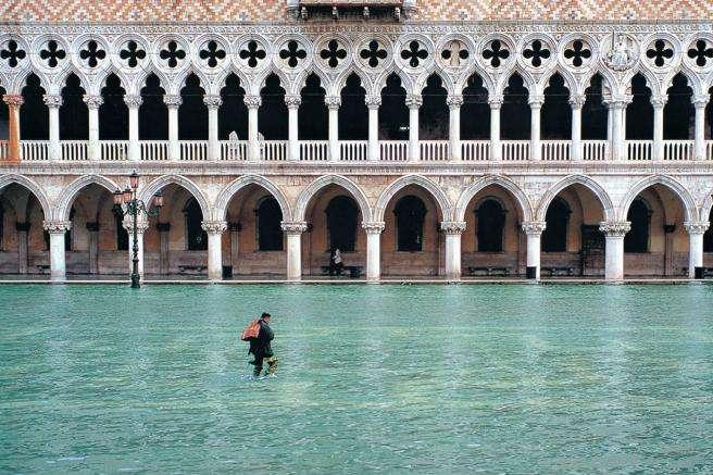 Через помилку синоптиків Венеція пішла під воду (фото)