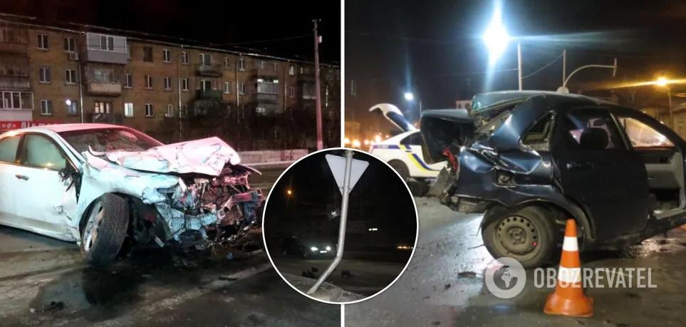 На Київщині п'яний неповнолітній влаштував ДТП: загинув чоловік. Фото і відео