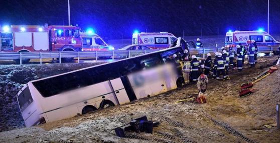 Український автобус потрапив у ДТП в Польщі, є загиблий та постраждалі