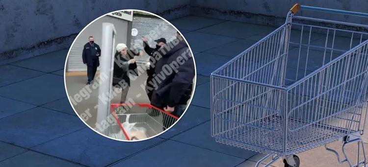 У Києві охоронець супермаркету на людях побив жінку. Відео