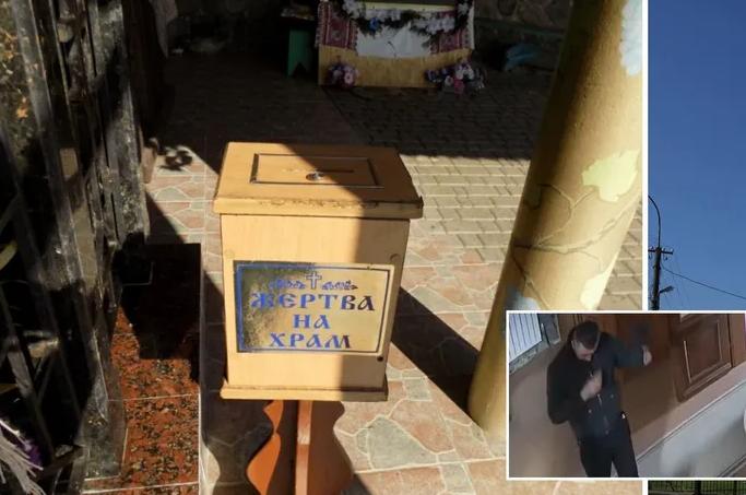На Закарпатті побожний грабіжник обчистив церкву і потрапив на відео