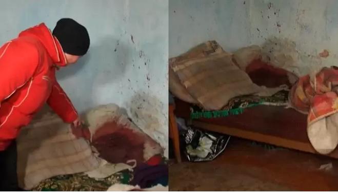 Кров на подушках: біля Рівного чоловік до півсмерті побив жінку, яка зрадила йому з сином (ВІДЕО)