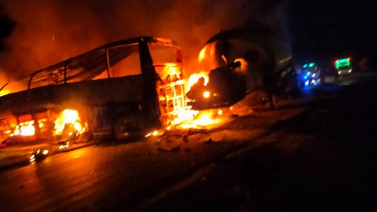 У Єгипті автобус потрапив у ДТП: 20 людей згоріли живцем – фото, відео