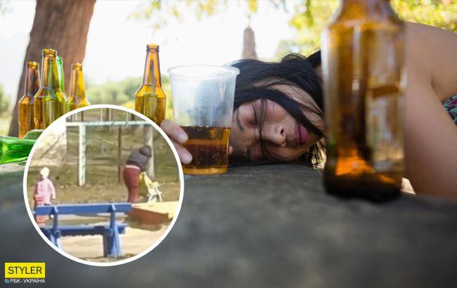 У Вінниці п'яна мати впала на коляску з дитиною: піднімали перехожі