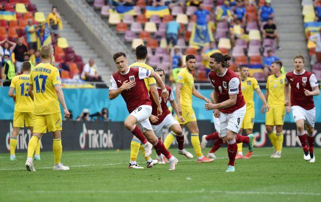 Україна програла Австрії і посіла третє місце в групі C. шанси вийти в плей-офф ще є