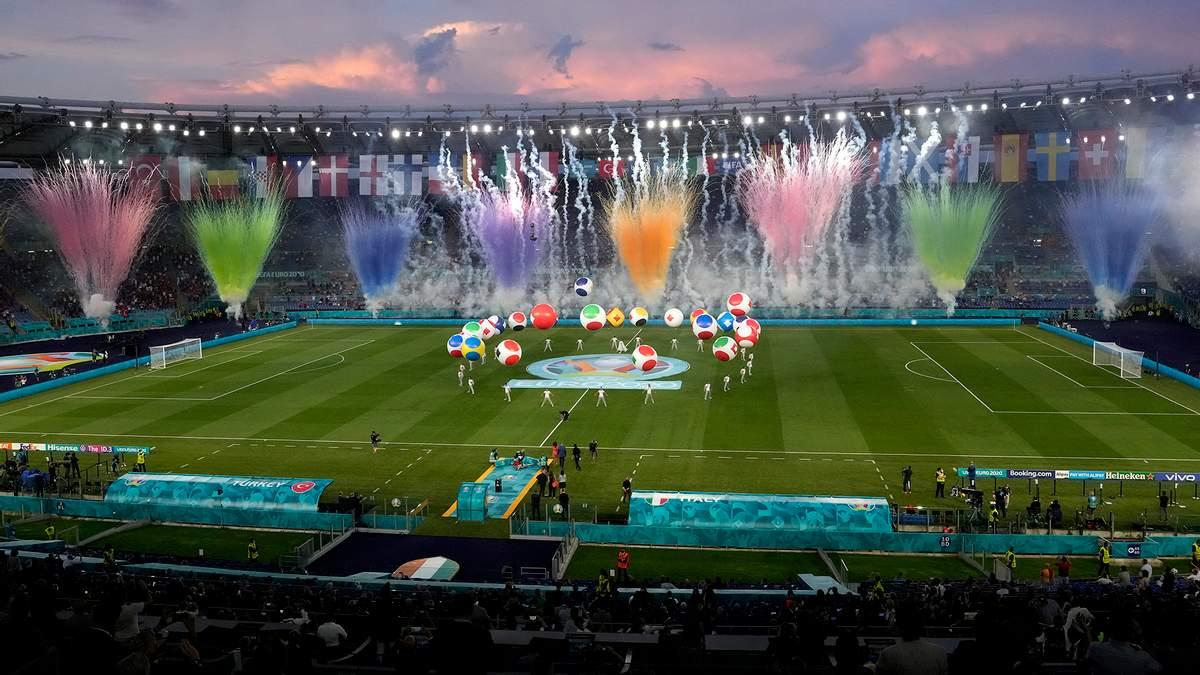 Євро-2020 стартувало: фото з офіційної церемонії відкриття