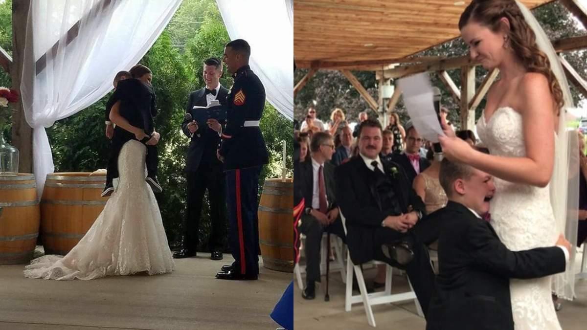 4-річний хлопчик розплакався на весіллі у батька: які слова нареченої розчулили дитину – відео