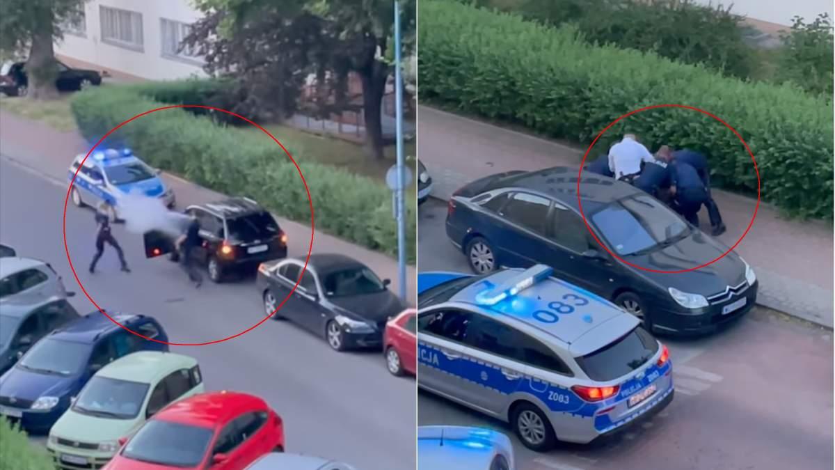У Польщі одразу 8 патрульних не могли вгамувати українця з вогнегасником: відео