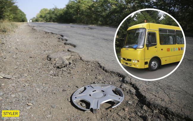 """У мережі показали """"вбиту"""" українську дорогу, якою возять до школи дітей: зарості в джунглях"""