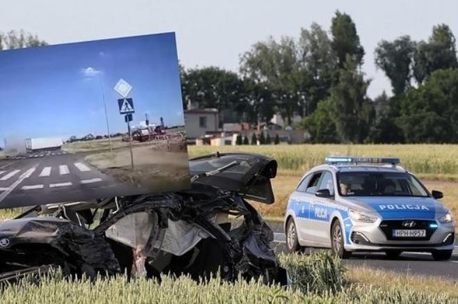 Автотроща в Польщі: зіткнулися вантажівка та легкове авто, п'ятеро людей загинуло (ВІДЕО)